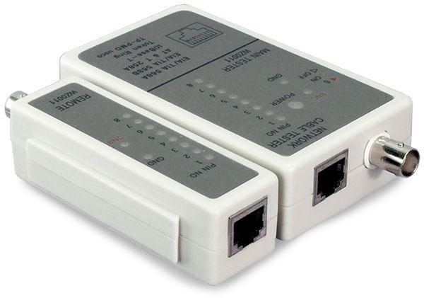 Netzwerk-Kabeltester LOGILINK WZ0011, RJ11/RJ12/RJ45/BNC - Produktbild 2