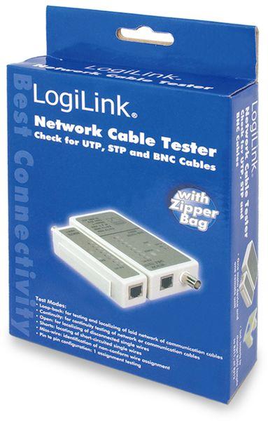 Netzwerk-Kabeltester LOGILINK WZ0011, RJ11/RJ12/RJ45/BNC - Produktbild 3