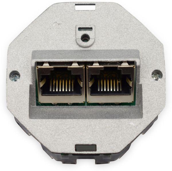 CAT.6a Datendose KOMOS KDD 500, EA 8/8 (8), 2x RJ-45 - Produktbild 6
