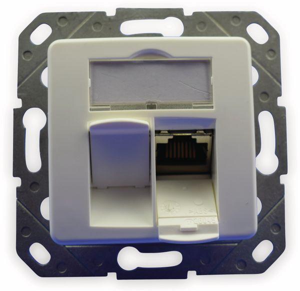 CAT.6a Datendose KOMOS KDD 500, EA 8/8 (8), Komplett mit Zentralscheibe, reinweiß - Produktbild 3