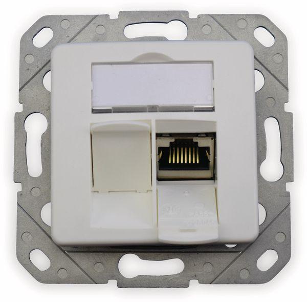 CAT.6a Datendose KOMOS KDD 500, EA 8/8 (8), Komplett mit Zentralscheibe, reinweiß - Produktbild 4