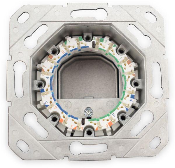 CAT.6a Datendose KOMOS KDD 500, EA 8/8 (8), Komplett mit Zentralscheibe, reinweiß - Produktbild 5