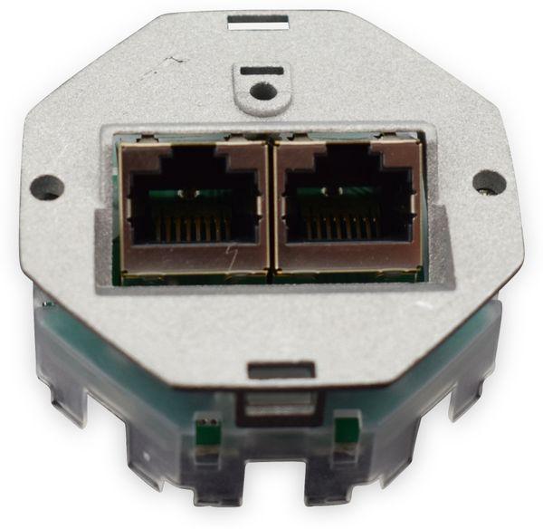 CAT.6a Datendose KOMOS KDD 500, EA 8/8 (8), Komplett mit Zentralscheibe, reinweiß - Produktbild 6