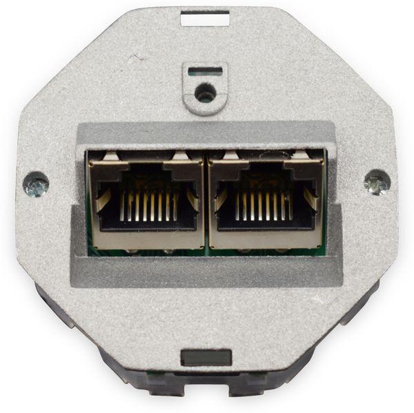 CAT.6a Datendose KOMOS KDD 500, EA 8/8 (8), Komplett mit Zentralscheibe, reinweiß - Produktbild 7