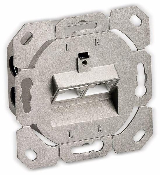 CAT.6a Datendose KOMOS KDD 500, EA 8/8 (8), Unterputz, mit Abdeckplatte, perlweiß - Produktbild 3