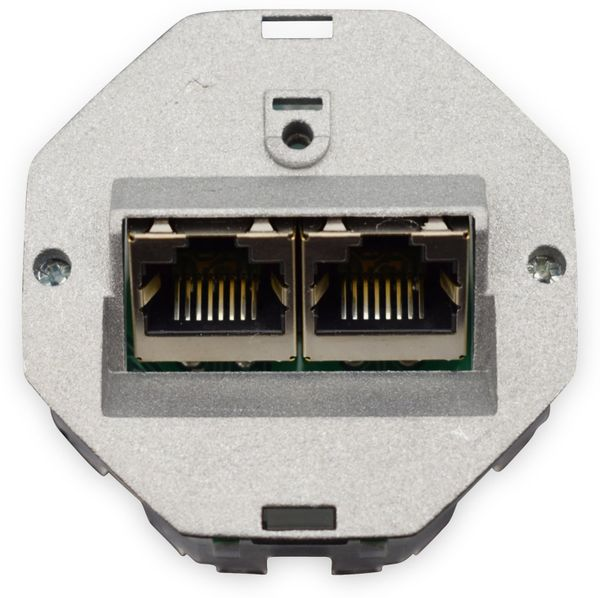 CAT.6a Datendose KOMOS KDD 500, EA 8/8 (8), Unterputz, mit Abdeckplatte, perlweiß - Produktbild 5