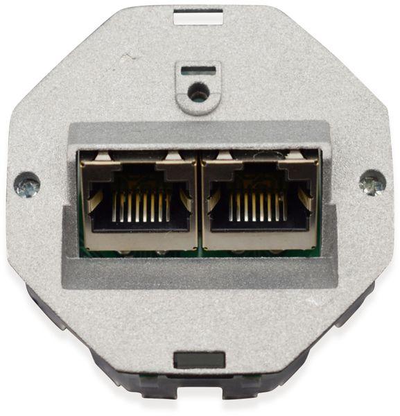 Einsatz für Datendose KOMOS 500, 8/8 (8), CAT.6a, 2x RJ-45