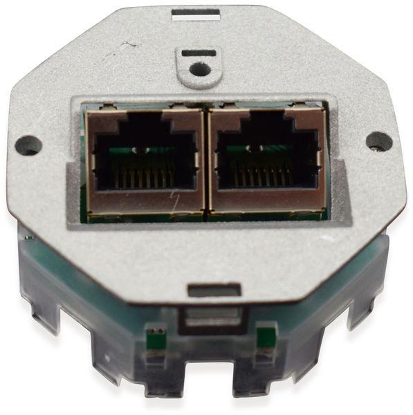 Einsatz für Datendose KOMOS 500, 8/8 (8), CAT.6a, 2x RJ-45 - Produktbild 2