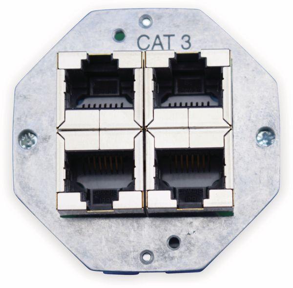 Einsatz für Datendose KOMOS 500, 8(4), CAT.3, 4x RJ-45