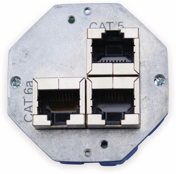 Einsatz für Datendose KOMOS 500, CAT.6a 8(8), 2x CAT.5 8(4)