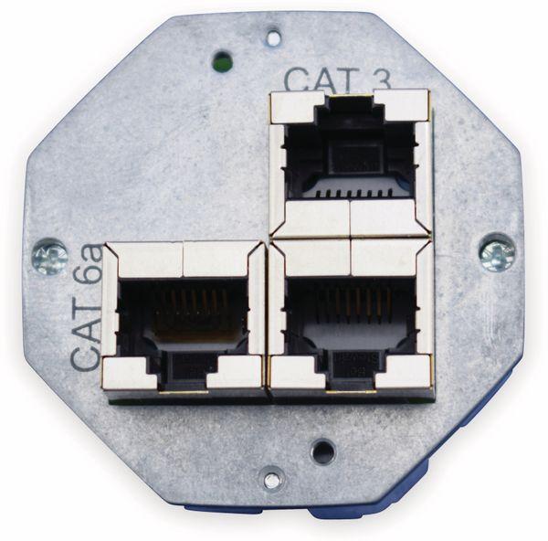 Einsatz für Datendose KOMOS 500, CAT.6a 8(8), 2x CAT.3 8(4)