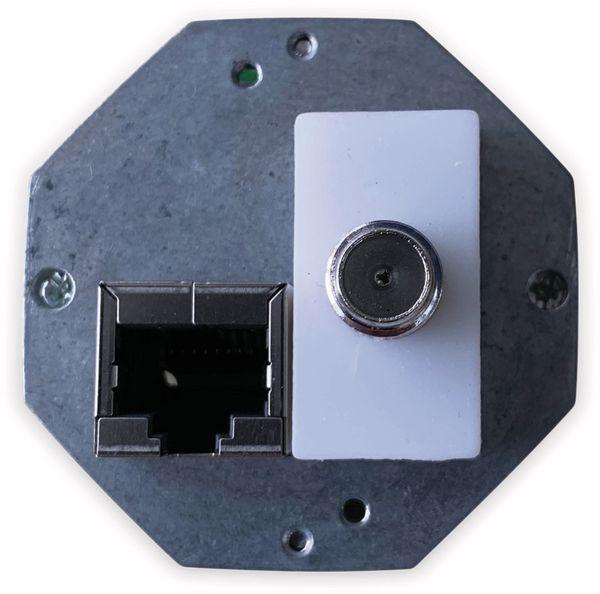 Moduldose KOMOS KDD 500, CAT.6A, TV-Anschluss, reinweiß - Produktbild 2