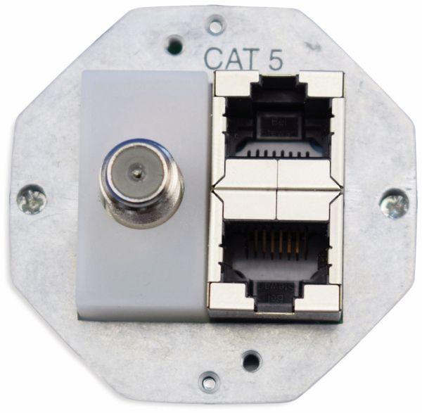 Einsatz für Datendose KOMOS 500, 2x CAT.5, TV-Anschluss