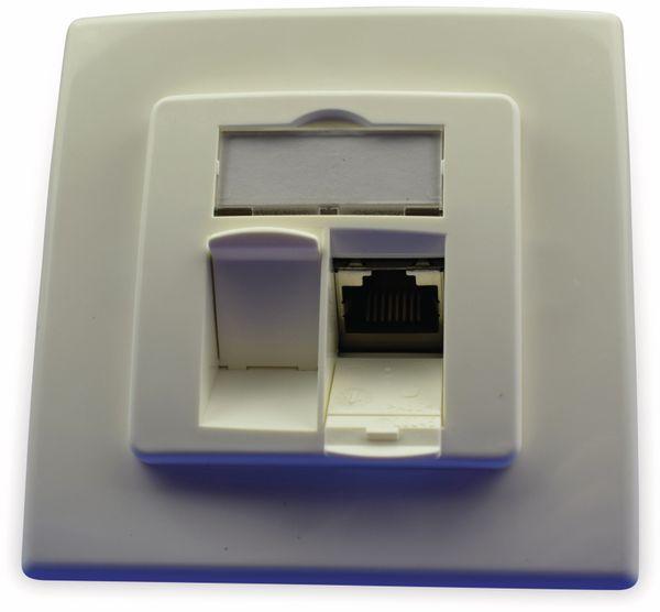 CAT.6a Datendose KOMOS 500 Unterputz, 8/8 (8), SnapIn, RAL9010, Frontrastend - Produktbild 5