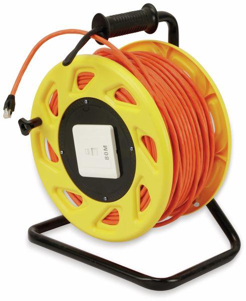 Netzwerkkabeltrommel RED4POWER DCP1042, CAT.7 Kabel mit CAT.6a Stecker, 80 m - Produktbild 2