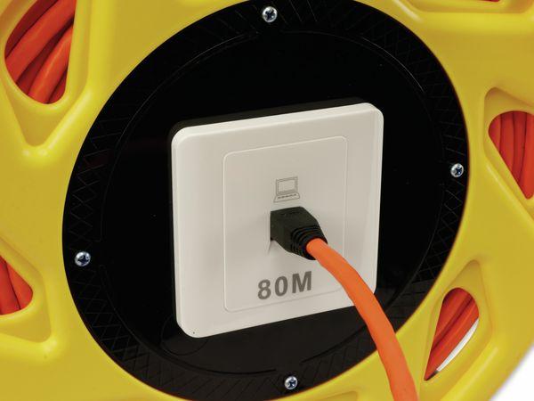 Netzwerkkabeltrommel RED4POWER DCP1042, CAT.7 Kabel mit CAT.6a Stecker, 80 m - Produktbild 4