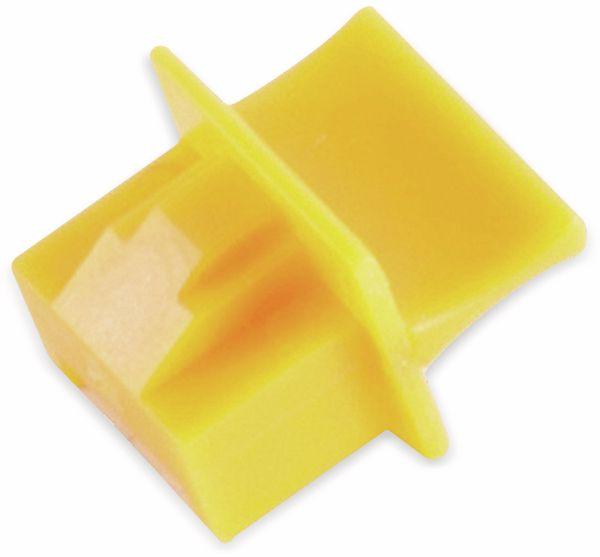 RJ-45 Staubschutz, gelb