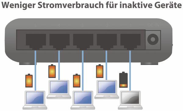 Desktop Switch EDIMAX ES-3305P, Fast Ethernet, 5-port - Produktbild 3