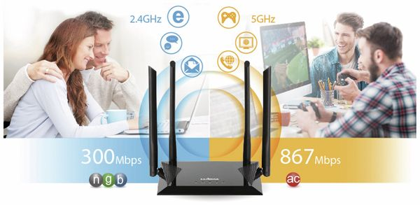 WLAN-Router EDIMAX BR-6476AC, AC1200, Dual-Band - Produktbild 13