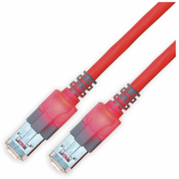 RJ45 Patchkabel SACON CAT.6, S/FTP, Lichtidentifikation, LSOH, rot, 2,0 m