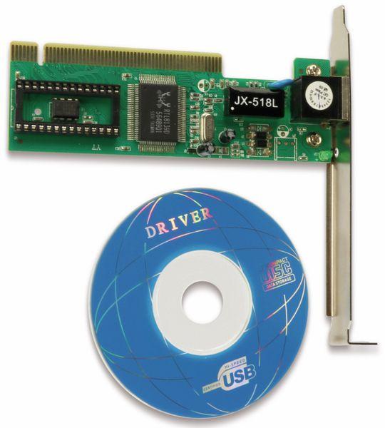 Netzwerkkarte, PCI, 10/100, Realtek-Chipsatz (RTL8139D)
