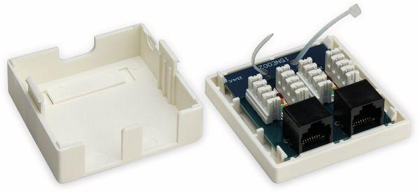 CAT.6 Anschlussdose GOOBAY, 2-fach, UTP, weiß - Produktbild 2
