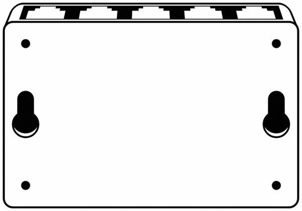 Netzwerk-Switch GOOBAY 71223, 5-Port, weiß - Produktbild 4