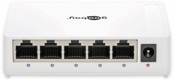 Gigabit Netzwerk-Switch GOOBAY 93372, 5-Port, weiß - Produktbild 2