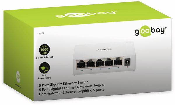Gigabit Netzwerk-Switch GOOBAY 93372, 5-Port, weiß - Produktbild 5