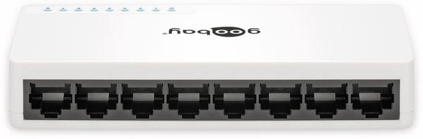 Netzwerk-Switch GOOBAY 71224, 8-Port, weiß - Produktbild 2