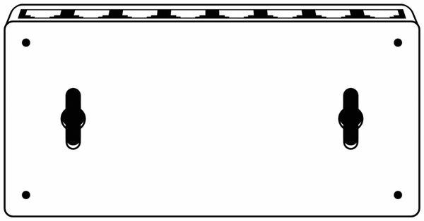 Netzwerk-Switch GOOBAY 71224, 8-Port, weiß - Produktbild 4