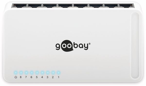 Gigabit Netzwerk-Switch GOOBAY 93373, 8-Port, weiß