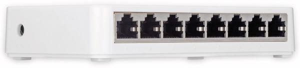 Gigabit Netzwerk-Switch GOOBAY 93373, 8-Port, weiß - Produktbild 3