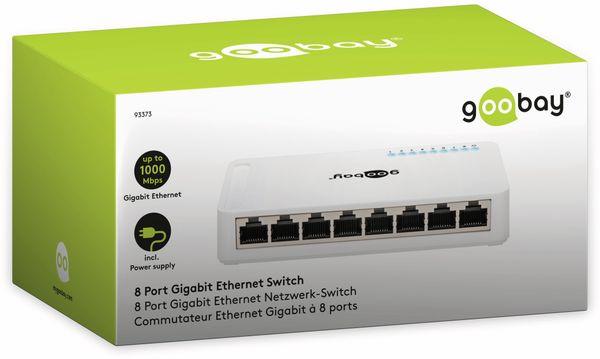 Gigabit Netzwerk-Switch GOOBAY 93373, 8-Port, weiß - Produktbild 4