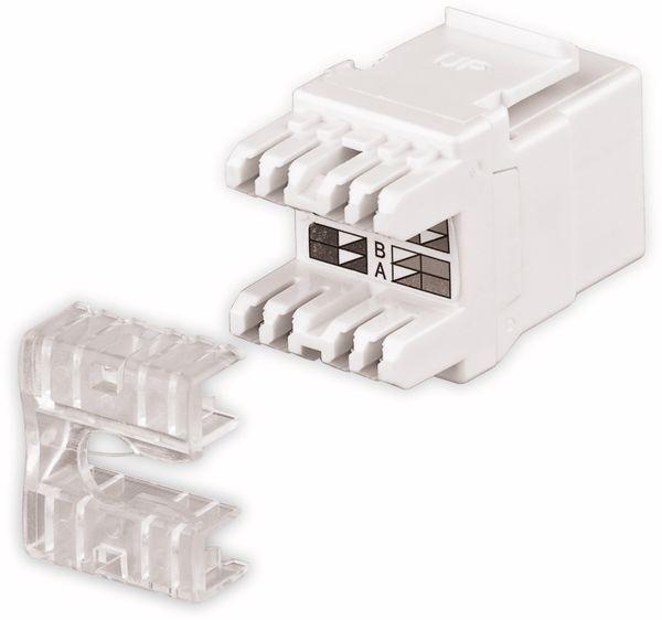 Einbau-Modul GOOBAY 95738, CAT.5e, UTP, weiß - Produktbild 2
