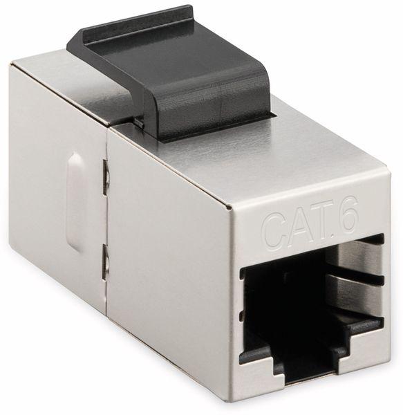 Einbau-Modul GOOBAY 96100, CAT.6, STP, Slim Ausführung, silber - Produktbild 2