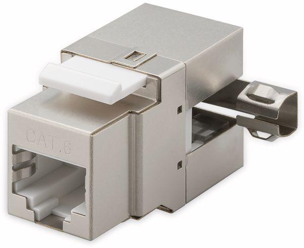 Einbau-Modul GOOBAY 95901, CAT.6, Metall, STP, 90° gewinkelter Ausgang, silber