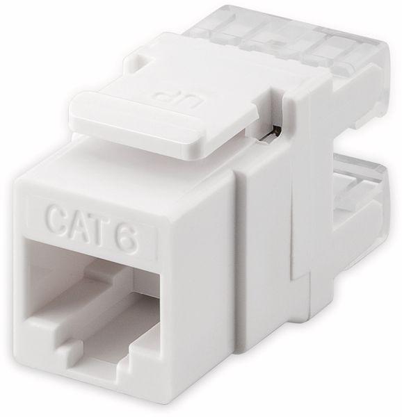 Einbau-Modul GOOBAY 95740, CAT.6, UTP, weiß