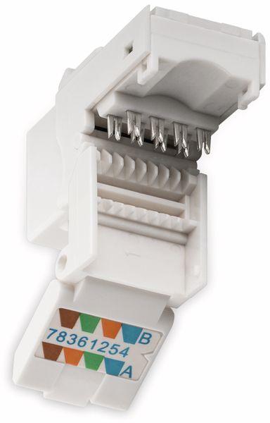 Einbau-Modul GOOBAY 95742, CAT.6, UTP, weiß - Produktbild 3