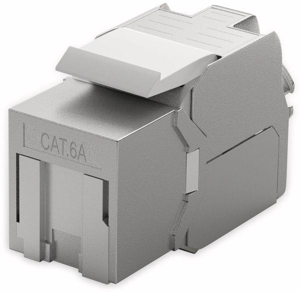 Einbau-Modul GOOBAY 66463, CAT.6a, STP, Slimeline, Verschluss silber