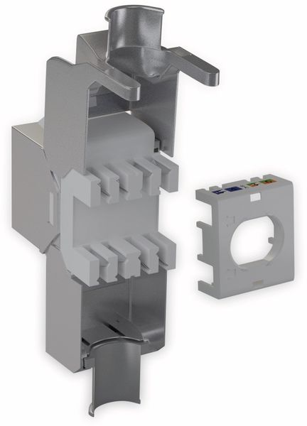 Einbau-Modul GOOBAY 66463, CAT.6a, STP, Slimeline, Verschluss silber - Produktbild 3