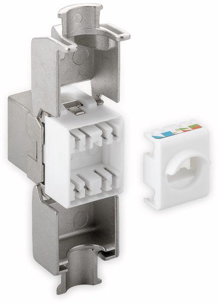 Einbau-Modul GOOBAY 90864, CAT.6a, STP, Slimeline, Breite 16,3 mm, silber - Produktbild 3
