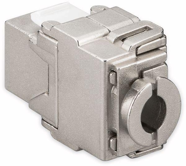 Einbau-Modul GOOBAY 95900, CAT.6a, STP, Breite 17,3 mm, silber - Produktbild 2