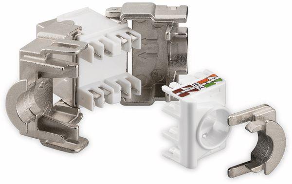 Einbau-Modul GOOBAY 95900, CAT.6a, STP, Breite 17,3 mm, silber - Produktbild 3