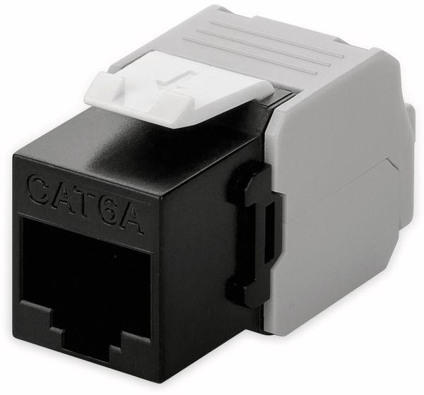 Einbau-Modul GOOBAY 90692, CAT.6a, UTP, Breite 16,5 mm, schwarz