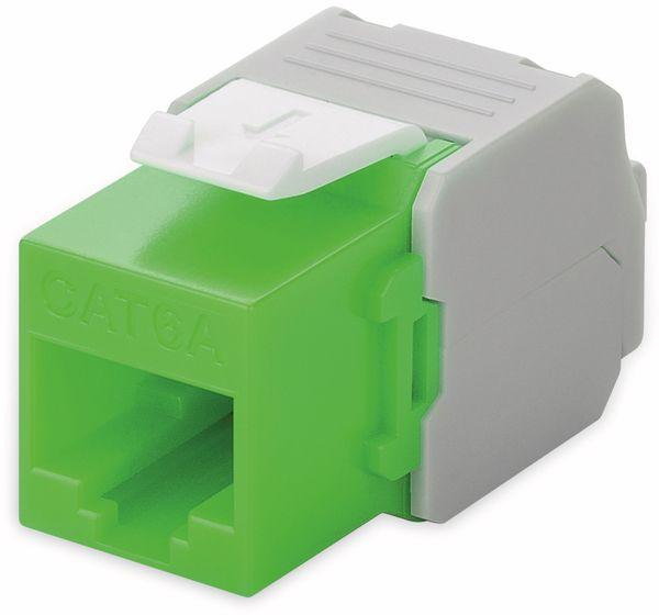 Einbau-Modul GOOBAY 90687, CAT.6a, UTP, Breite 16,5 mm, grün