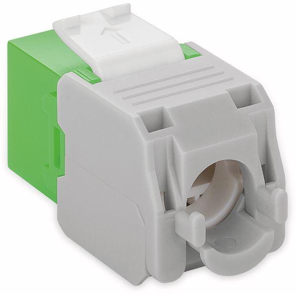 Einbau-Modul GOOBAY 90687, CAT.6a, UTP, Breite 16,5 mm, grün - Produktbild 2