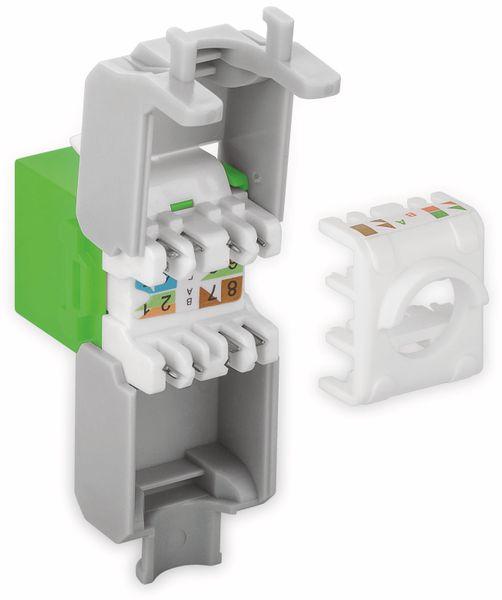 Einbau-Modul GOOBAY 90687, CAT.6a, UTP, Breite 16,5 mm, grün - Produktbild 3