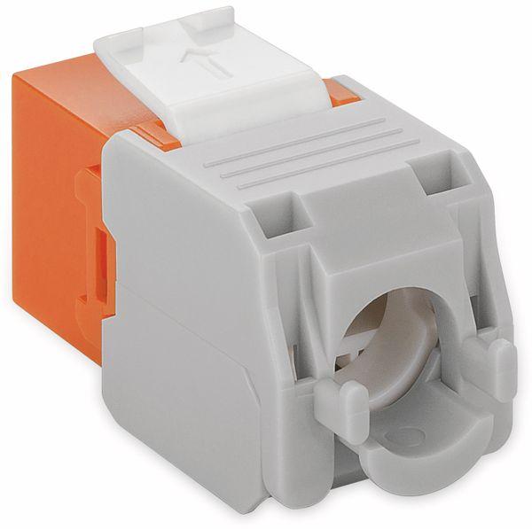 Einbau-Modul GOOBAY 90690, CAT.6a, UTP, Breite 16,5 mm, orange - Produktbild 2
