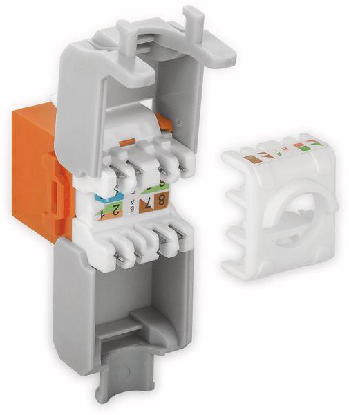 Einbau-Modul GOOBAY 90690, CAT.6a, UTP, Breite 16,5 mm, orange - Produktbild 3